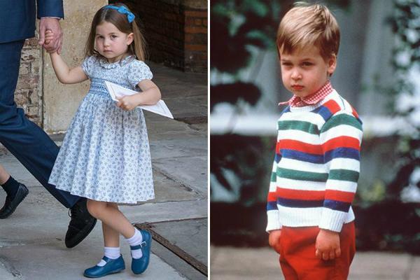 Hoàng tử William hồi nhỏ và con gái cũng có nhiều khoảng khắc giống nhau như hai giọt nước. Cặp cha con hoàng gia nổi tiếng không chỉ giống về nét bên ngoài và copy cả thần thái không lẫn vào đâu được. Một bức ảnh được người dùng khai quật khi hoàng tử Anh William mới học mẫu giáo.