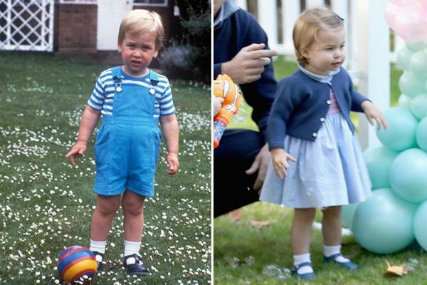 Bức ảnh chụp sinh nhật Hoàng tử William tròn 2 tuổi còn Công chúa Charlotte khi ấy 1 tuổi ở Canada.Bức ảnh chụp Charlotte vào ngày Giáng sinh năm 2016 và bố của cô bé khi đangtrong khu vườn của Điện Kensington vào tháng 12/1983.