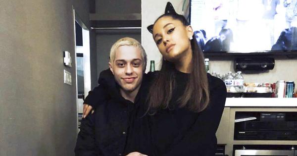 Ariana Grande và Pete Davidson khi còn mặn nồng bên nhau.