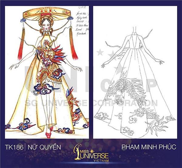 Bản vẽ Nữ quyền tuy không đẹp mắt như nhiều bản vẽ khác nhưng lại rất tiềm năng với ý tưởng đưa hình ảnh rồng phượng lên bộ đồ váy yếm, nón quai thao. Đây đều là những chi tiết đặc trưng trong văn hóa Việt.