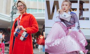 Trời nắng to nhưng 'fashionista Hà thành' vẫn diện đồ tầng tầng lớp lớp