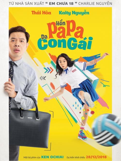 Teaser poster phim Hồn papa da con gái.