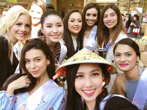 Thùy Tiên chào khán giả bằng 6 thứ tiếng ở Miss International 2018 - 1