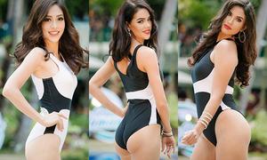 Phương Nga lép vế hình thể so với nhiều đối thủ Miss Grand International