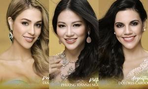 Ảnh chân dung 'một chín một mười' của Phương Khánh và dàn thí sinh Miss Earth