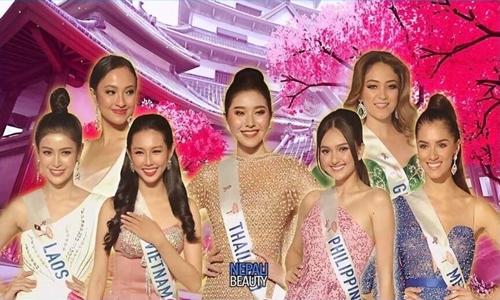 Trang phục dạ hội của Thùy Tiên vào top 10 bình chọn