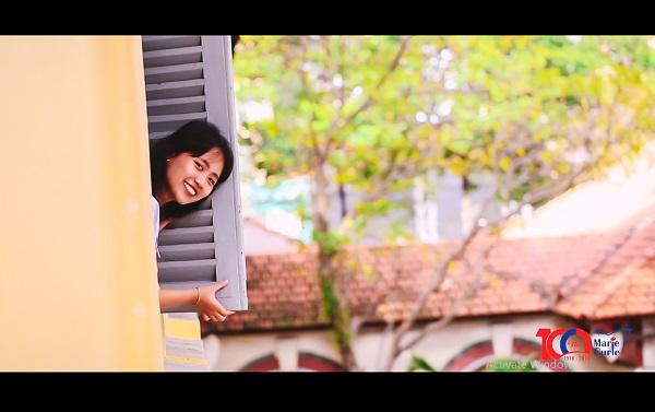 Góc sống ảo quen thuộc của những ai đã từng có 3 năm gắn bó dưới mái trường cổ kính nhất nhì Sài Thành.