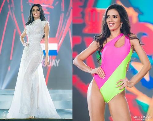 Có mặt trong top 5 ứng viên tiềm năng là đại diện Paraguay. Theo Global Beauties, nhan sắc châu Mỹ ghi điểm mạnh bởi những bước catwalk uyển chuyển, tự tin trong phần thi áo tắm. Ngoài hình thể chuẩn, Clara còn sở hữu kỹ năng trình diễn chuyên nghiệp khi làm người mẫu tại Paraguay. Cô nói thành thạo 3 ngôn ngữ: Guarani, Tây Ban Nha và tiếng Anh.