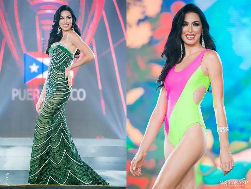 Nicole Marie - đại diện Puerto Rico cũng có màn trình diễn xuất sắc trong đêm thi Bán kết. Cô năm nay 25 tuổi, sở hữu chiều cao 1m79. Cử nhân ngành quan hệ công chúng có đam mê lớn dành cho bộ môn diễn xuất, khiêu vũ.