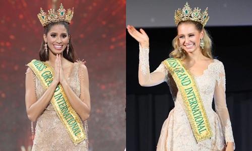 Tại Miss Grand International 2015, Anea Garcie (trái) - người đẹp CH Dominica đăng quang ngôi vị hoa hậu. Tuy nhiên sau đó, do không hoàn thành nghĩa vụ, trách nhiệm với cuộc thi, cô đã bị chính ban tổ chức tước vương miện. Danh hiệu cao quý sau đó được trao lại cho Á hậu 1 - Parker (phải)- nhan sắc đến từ Australia. Trong suốt 1 năm đương nhiệm, nhan sắc thay thế hoa hậu được khen ngợi chăm chỉ, tích cực tham gia các dự án thiện nguyện, cộng đồng.