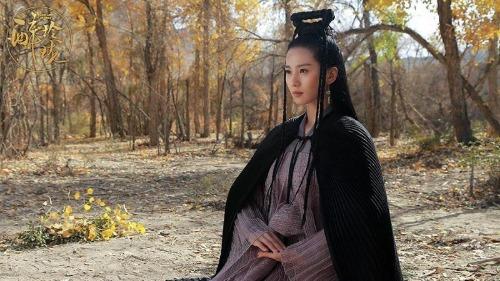 Vẻ ngoài xinh đẹp của Lưu Thi Thi cũng không thể cứu nổi tạo hình hài hước của cô trong Túy Linh Lung. Dù Lưu Thi Thi là nữ chính, stylist cũng không hề nể mặt cô tý nào.