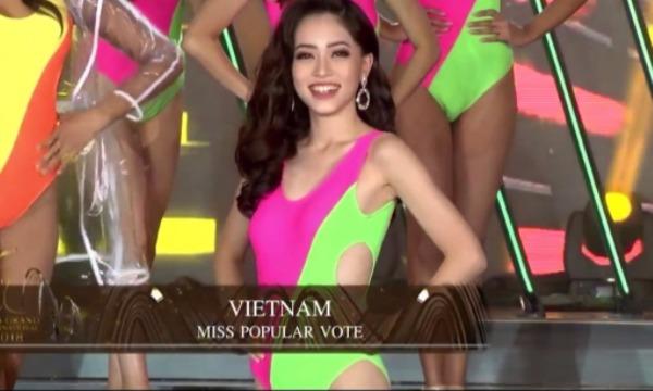 Phương Nga vào Top 10 Miss Grand International 2018 nhờ có giải bình chọn.