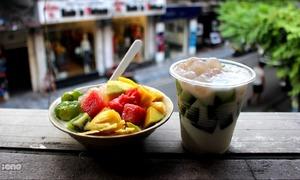 Mát trời ăn sữa chua thạch lá nếp phô mai độc nhất tại Hà Nội