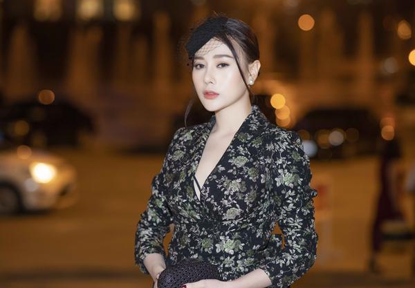 Gương mặt của nữ diễn viên đã bớt sưng so với những lần xuất hiện trước đây.