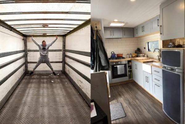 Nội thất bên trong ngôi nhà trước và sau khi được tu sửa.