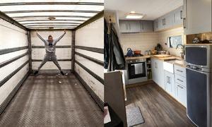 Cặp đôi chi 25.000 USD biến xe tải cũ thành ngôi nhà di động