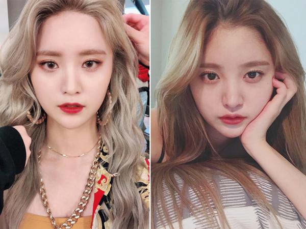 Cô nàng xinh đẹp của nhóm nữ EXID Jung Hwa cũng là một mỹ nhân có gương mặt tròn nhưng vẫn tạo ấn tượng mạnh cho khán giả nhờ vẻ đẹp quyến rũ của mình. Để gương mặt thật nỏi bật, cô nàng chọn cách họa mặt pha trộn giữa phong cách phương Tây và Hàn Quốc.