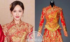 Trang phục cưới cầu kỳ được làm hơn 6 tháng của Đường Yên