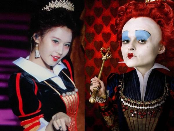 Vào vai Nữ Hoàng Đỏ xấu xí trong Alice in Wonderland nhưng Sana lại có diện mạo xinh như công chúa.