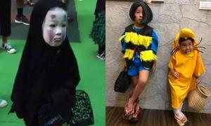 'Cô bé Vô Diện' xứ Đài lại gây sốt với tạo hình mới mùa Halloween