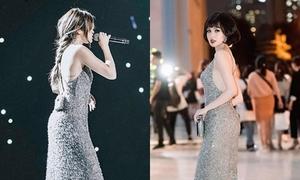 Tâm Tít bị nghi mặc váy nhái của Selena Gomez