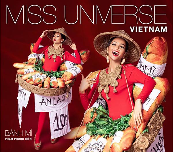 Bánh mì đang nhận được lượng bình chọn nhiều nhất để trở thành Quốc phục của Việt Nam ở Miss Universer 2018.