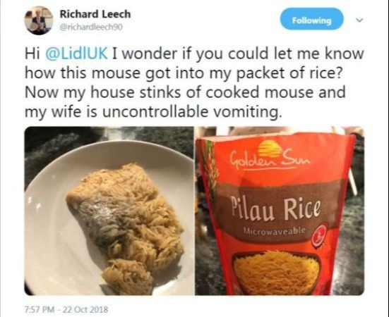 Bài đăng của Richard Leech trên mạng xã hội.