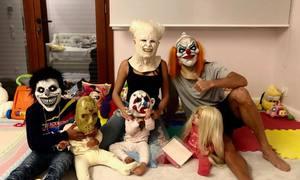 Ronaldo hóa tên hề ma quái, đọ tạo hình độc đêm Halloween