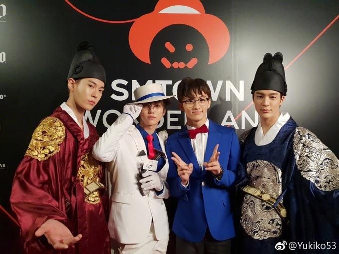 <p> Các chàng trai NCT mỗi người một ý tưởng. Jeno (hanbok xanh) và Do Young (hanbok đỏ) trở thành các nam chính trong phim cổ trang. Jae Min là kẻ trộm Kid, song hành với thám tử Conan Mark.</p>
