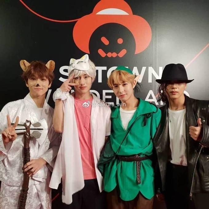 <p> Các nhân vật trong truyện tranh Nhật Bản, Peter Pan và Micheal Jackson cũng được các chàng trai NCT lấy cảm hứng trong tiệc hóa trang.</p>