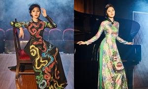 Jolie Nguyễn đẹp kiêu kỳ với áo dài cách điệu