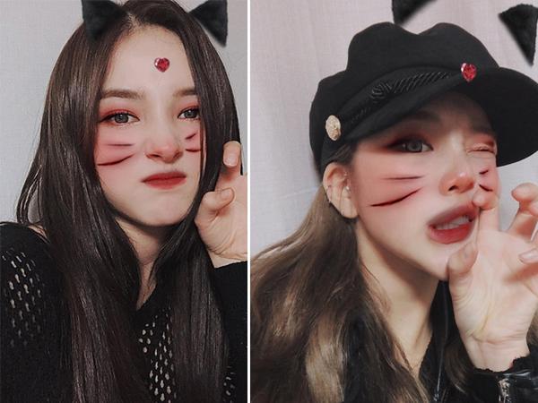 9 thành viên của girl group Momoland lại khiêm tốn hơn với kiểu hóa trang bằng app chỉnh ảnh trên điện thoại. Dù thế nào thì những cô nàng này vẫn rất nhí nhảnh và đáng yêu.