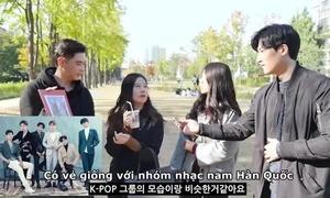 Phản ứng của con gái Hàn khi xem nhóm nhạc idol Việt Nam