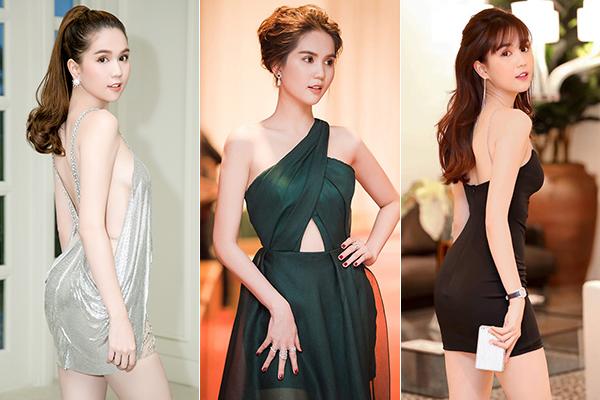 Với Ngọc Trinh, cứ váy áo mong manh, ôm sát thân hình để tôn da trắng, đường cong là phù hợp hơn cả.
