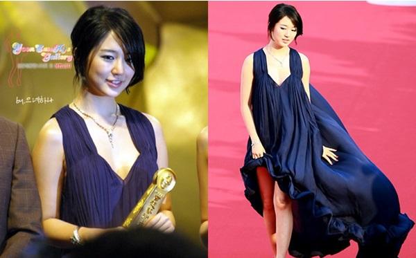 Yoon Eun Hye giành giải Nữ diễn viên xuất sắc nhất tại lễ trao giải Baeksang 2008.