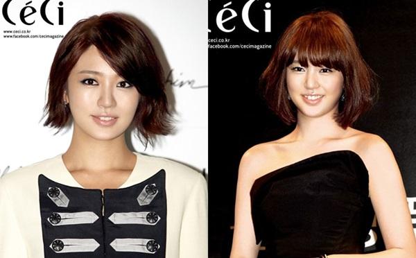 Năm 2010, Yoon Eun Hye trở lại với mái tóc ngắn trẻ trung, cá tính.