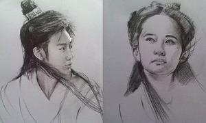 Mỹ nhân, đại hiệp phim Kim Dung qua nét vẽ của chàng trai 9x