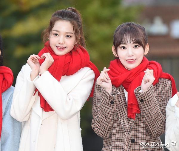 ... Jang Won Young (trái) và Miyawaki Sakura là hai gương mặt gây chú ý nhất.