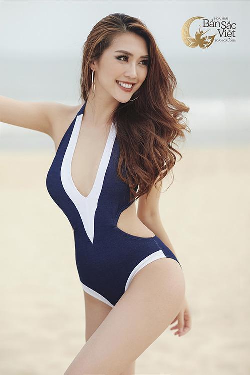 Việc tiếp tục đăng ký thi Hoa hậu Bản sắc Việt toàn cầu cho thấy sự chăm chỉ thi sắc đẹp của Tường Linh. Cô gái cao 1,7 m có số đo ba vòng cũng rất ấn tượng83-53-90
