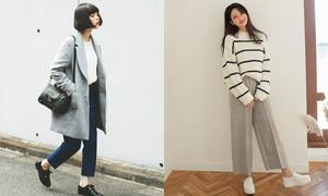 Những cách mix đồ thu đông vừa trendy vừa ấm áp của con gái Hàn Quốc
