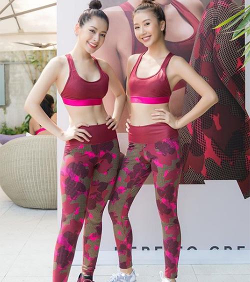 Hai chị em Chi Pu - Quỳnh Anh Shyn đọ vẻ rạng rỡ, khỏe khoắn một chín một mười.