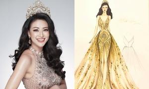Đầm dạ hội Phương Khánh mặc trong chung kết Miss Earth 2018
