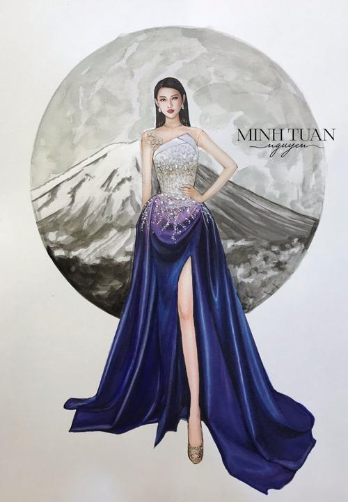 Đầm dạ hội Thùy Tiên sẽ diện ở chung kết Miss International 2018