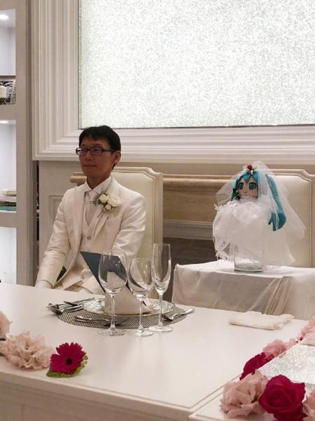 Hai vợ chồng trong lễ cưới.