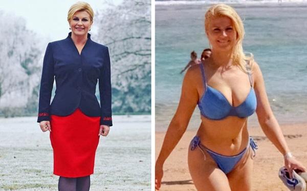 Nữ tổng thống đầu tiên của Croatia, Kolinda Grabar-Kitarović, 49 tuổi, được cho là một trong những người đứng đầu nhà nước đẹp nhất thế giới. Không có gì ngạc nhiên, bạn chỉ cần nhìn vào bức ảnh của bà trong bộ đồ bơi.