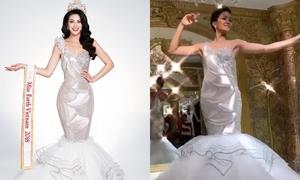 H'Hen Niê bất phân thắng bại khi đụng váy với Phương Khánh