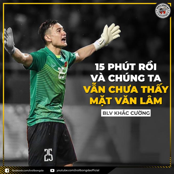 """<p> Máy ghi hình của """"nước bạn"""" thậm chí chỉ quét nửa sân bên Lào mà """"quên béng"""" nửa sân bên phía thủ môn Đặng Văn Lâm của Việt Nam.</p>"""