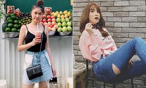 5 mốt đồ jeans siêu độc của sao Việt 'cho cũng không ai dám mặc'