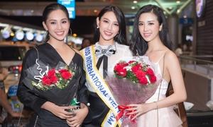 Dàn người đẹp chúc Thùy Tiên trước giờ G chung kết Miss International 2018