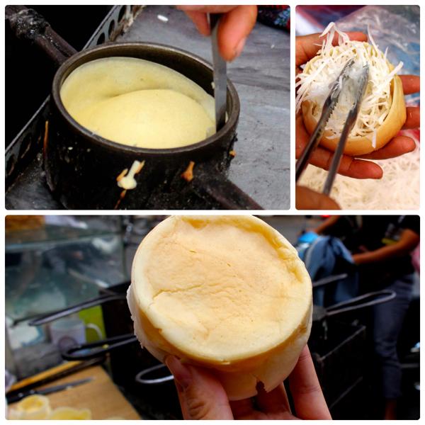 Những chiếc bánh được tạo ra theo cách rất đơn giản.